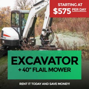 Track-Loader-plus-Excavator-and-Flail-Mower--for-Rent